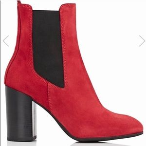 Barney's New York Red Suede Boots